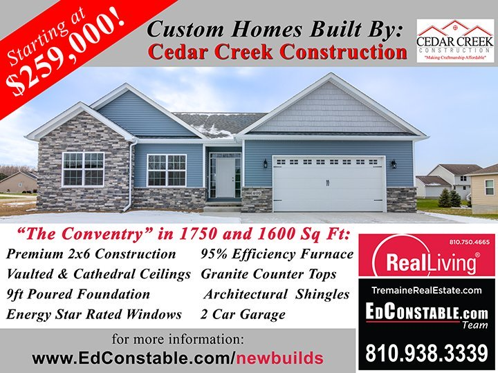 Cedar Creek Construction The Coventry 1750 and 1600 SF