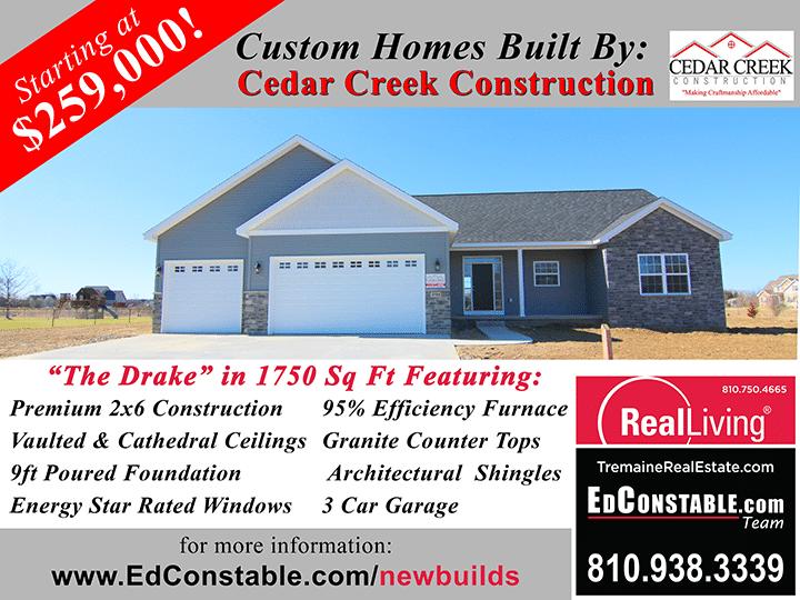 Cedar Creek Construction The Drake Sign 1750 SF