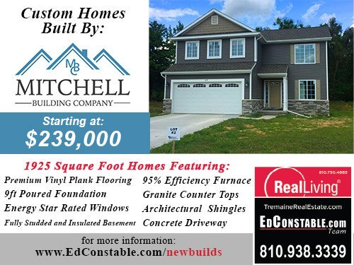 Mitchell Builders Co New Builds Fenton MI